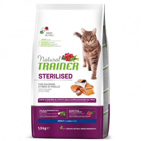 Natural Trainer Sterilized Cat - Losos 1,5kg Trainer - 1