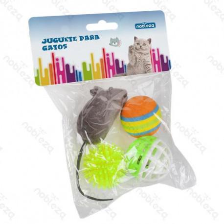 Set hračiek pre mačku Nobleza - Mix 4 druhov Nobleza - 1