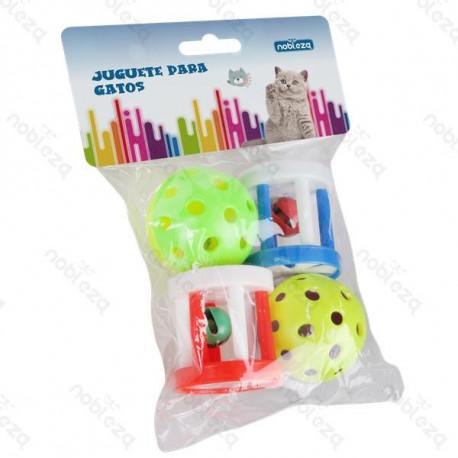 Set hračiek pre mačku Nobleza - Mix 4 plastových druhov Nobleza - 1