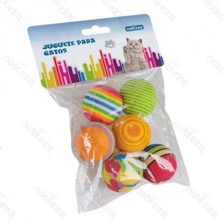 Set hračiek pre mačku Nobleza - Mix 6 penových loptičiek Nobleza - 1