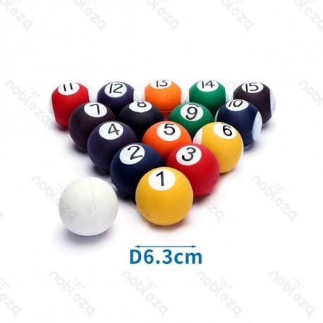 Gumená lopta pre psa Biliard - 6,3cm Nobleza - 1