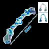 Bavlnené lano s hrubým uzlom Nobleza XXL - 56cm (farebné) Nobleza - 1