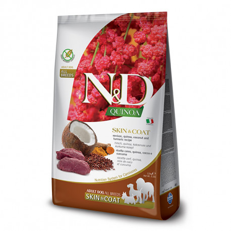 N&D GF Quinoa DOG Skin&Coat Srnec a kokos 2,5kg Farmina N&D - 1