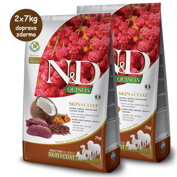N&D GF Quinoa DOG Skin&Coat Srnec a kokos 2,5kg Farmina N&D - 2