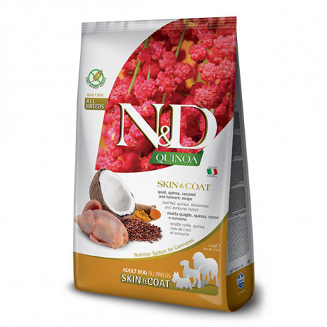 N&D GF Quinoa Dog Skin&Coat Quail & Coconut 2,5kg Farmina N&D - 1
