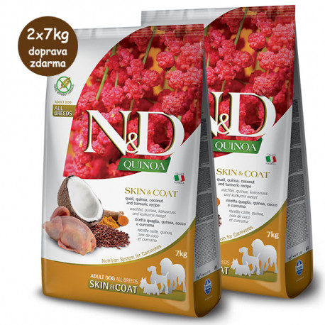 N&D GF Quinoa Dog Skin&Coat Quail & Coconut 2,5kg Farmina N&D - 2
