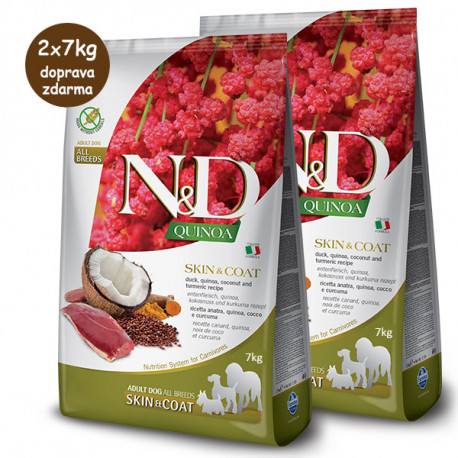 N&D GF Quinoa Dog Skin&Coat Duck & Coconut 2,5kg Farmina N&D - 2