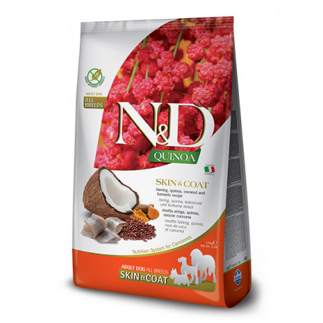 N&D GF Quinoa Dog Skin&Coat Herring & Coconut 2,5kg Farmina N&D - 1
