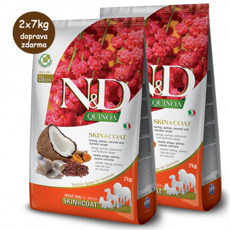 N&D GF Quinoa Dog Skin&Coat Herring & Coconut 2,5kg Farmina N&D - 2