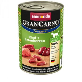 GranCarno Original Adult - hovädzie a kačacie srdiečka Animonda - 1