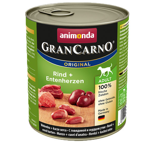 GranCarno Original Adult - Hovädzie a kačacie srdcia 800g Animonda - 1