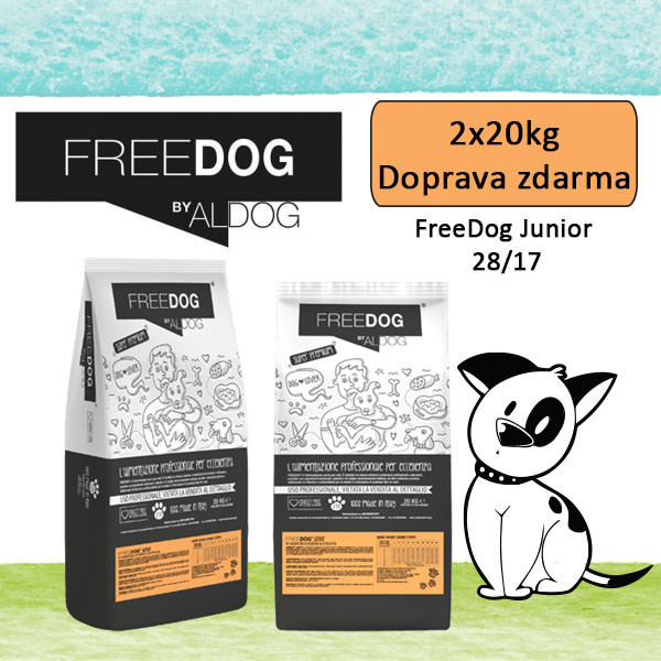 Freedog Junior Medium 20kg Eurocereali Pesenti s.r.l. - 2