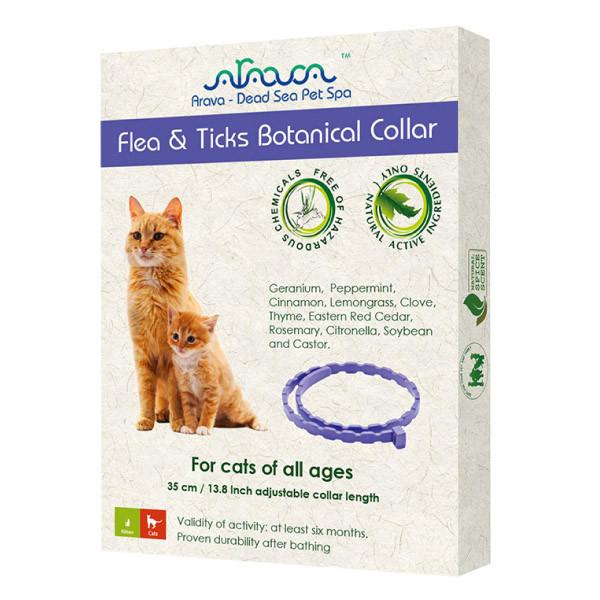 Arava Antiparazitný bylinný obojok pre mačky 35cm Arava - 1