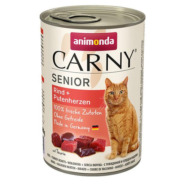 Animonda Carny Senior - Hovädzie + morčacie srdcia 200g Animonda - 1