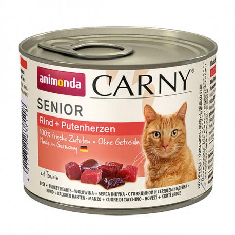 Animonda Carny Senior - Hovädzie + morčacie srdcia 200g Animonda - 2