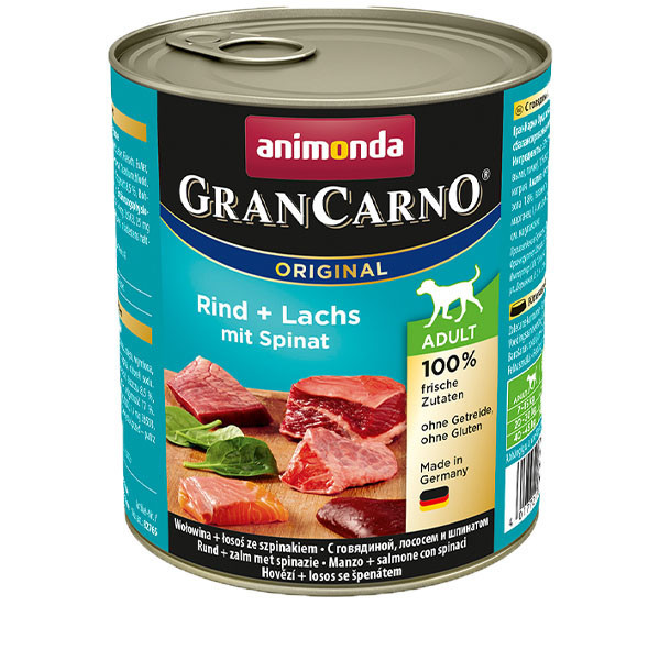 GranCarno Original Adult - Hovädzie a losos so špenátom 800g Animonda - 1