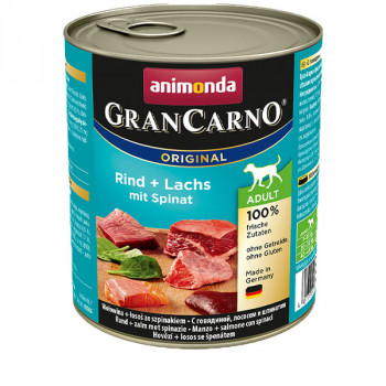GranCarno Original Adult - Hovädzie a losos so špenátom 800g Animonda - 1