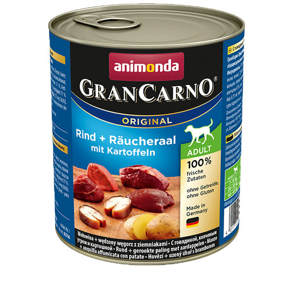 GranCarno Original Adult - Hovädzie a úhor so zemiakmi Animonda - 1