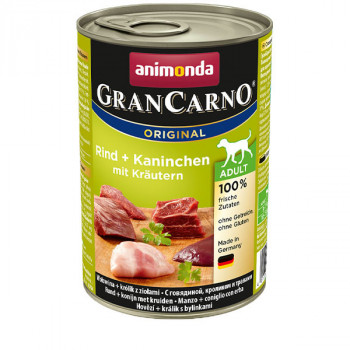 GranCarno Original Adult - Beef & rabbit with herbs 400g Animonda - 1