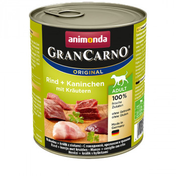 GranCarno Original Adult - Beef & rabbit with herbs 800g Animonda - 1