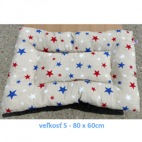 Vankúš pre zvieratá veľ. S Nobleza Stars - 80x60cm Nobleza - 1