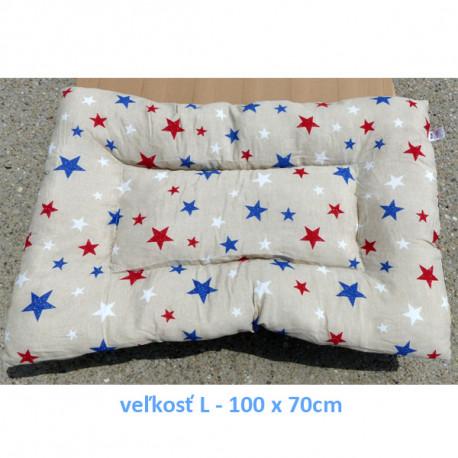Vankúš pre zvieratá veľ. S Nobleza Stars - 80x60cm Nobleza - 3