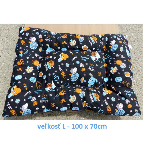 Vankúš pre zvieratá veľ. S Nobleza Dog Pattern - 100x70cm Nobleza - 3