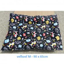 Vankúš pre zvieratá veľ. L Nobleza Cat Pattern Black - 100x70cm Nobleza - 2