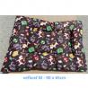 Vankúš pre zvieratá veľ. S Nobleza Cat Pattern Brown - 80x60cm Nobleza - 2