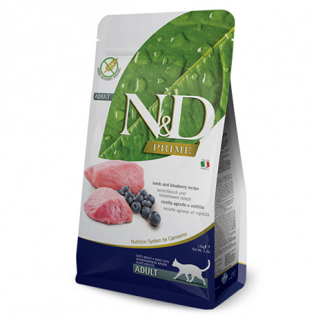 Farmina N&D Cat Prime Adult Lamb & Blueberry 300g Farmina N&D - 1