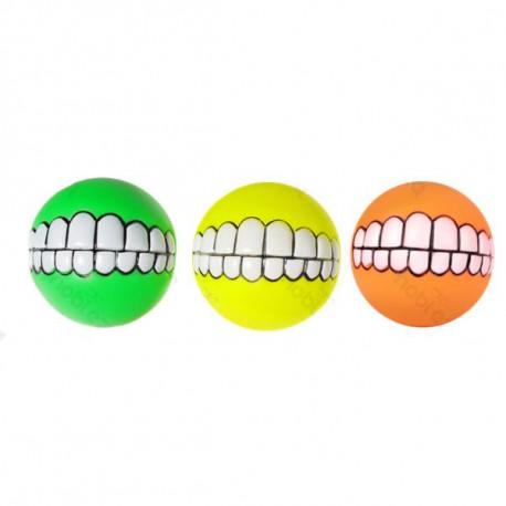 Mäkká pískacia lopta Teeth - 7,5cm Nobleza - 1