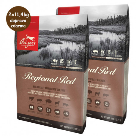 Orijen Dog Regional Red 2x11,4kg Orijen - 1