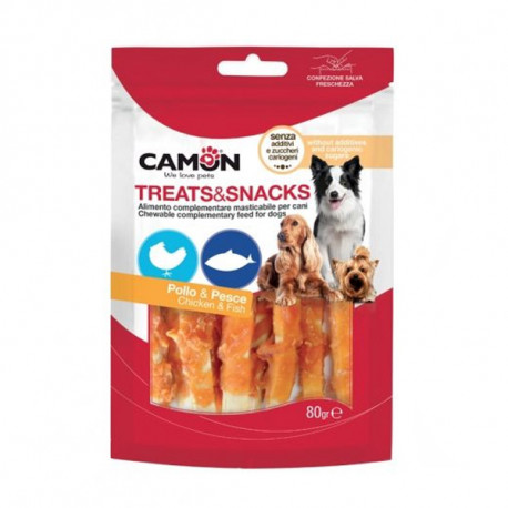Camon Treats&Snacks Dog - Pásiky treska s kuraťom 80g Camon - 1