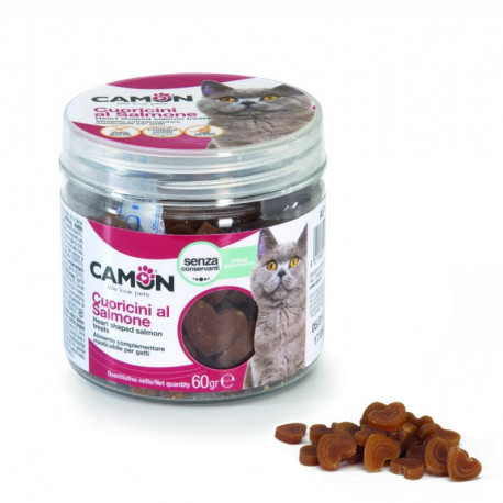 Camon Treats & Snacks Cat - Lososové srdiečka 60g Camon - 1