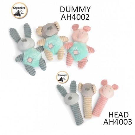 Plyšová hračka Camon pre psa - Zvieratká HEAD 1ks Camon - 1