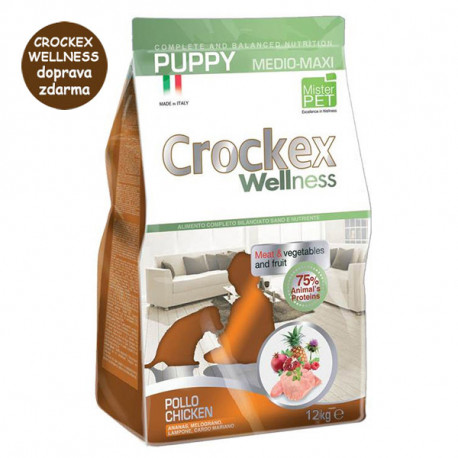 Crockex Wellness Puppy Chicken & Rice 12kg MisterPet - 1