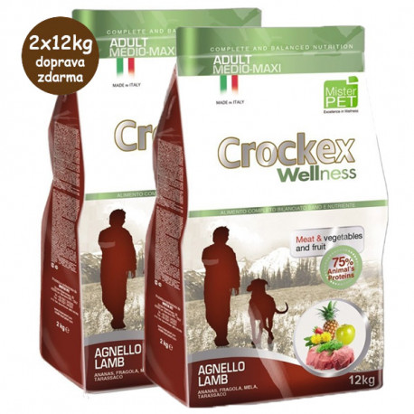 Crockex Wellness Adult Medium&Maxi Lamb & Rice 12kg MisterPet - 2