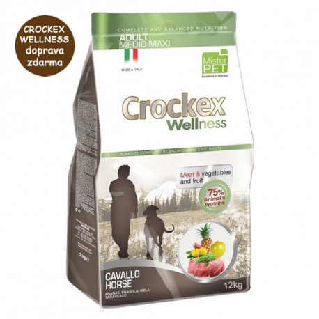Crockex Wellness Adult Medium&Maxi Horse & Rice 12kg MisterPet - 1