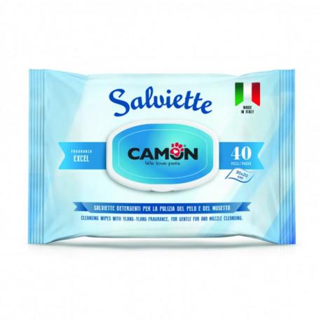 Vlhčené utierky na zvieratá Camon s vôňou Excel 40ks Camon - 1