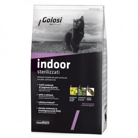 Golosi Cat Adult Indoor - Kuracie a losos 400g Zoodiaco - 1
