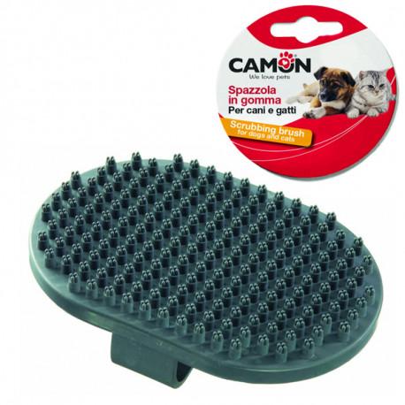 Gumená rukavica Camon na česanie krátkej srsti zvierat - šedá Camon - 1