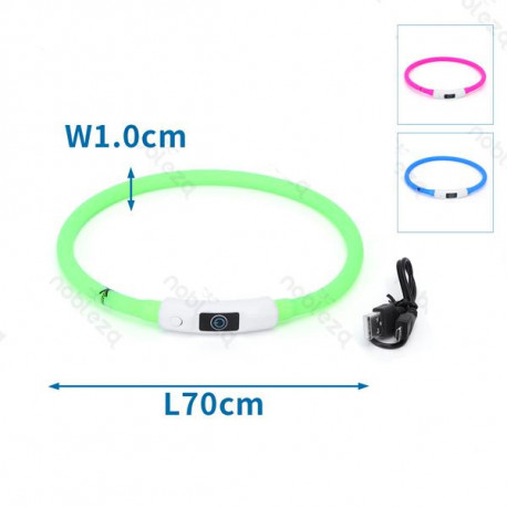 LED svietaci obojok Nobleza pre psa L-XL 70cm Nobleza - 1