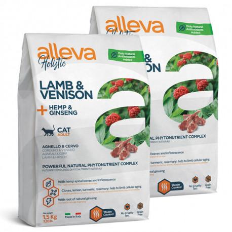 Alleva Holistic Cat Adult Lamb & Venision 1,5kg Alleva - 2
