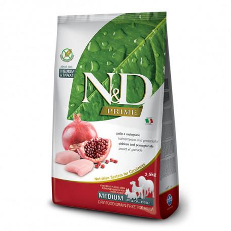 Farmina N&D Dog Prime Adult Medium & Maxi Chicken & Pomegranate 2,5kg Farmina N&D - 1