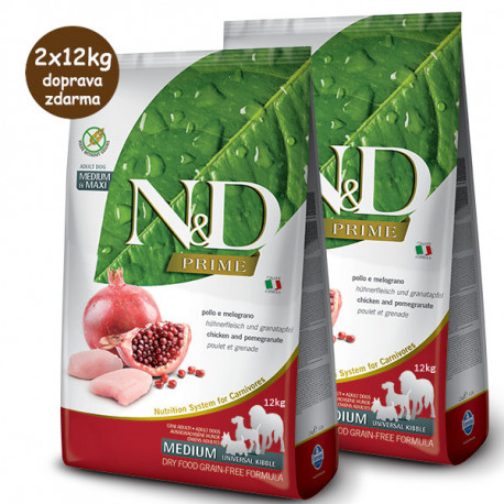 Farmina N&D Dog Prime Adult Medium & Maxi Chicken & Pomegranate 2,5kg Farmina N&D - 3