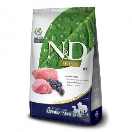 Farmina N&D Dog Prime Adult Medium & Maxi Lamb & Blueberry 2,5kg Farmina N&D - 1