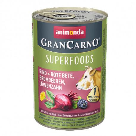 Animonda GranCarno Superfoods Hovädzie + červená repa, černice a púpava 400g Animonda - 1