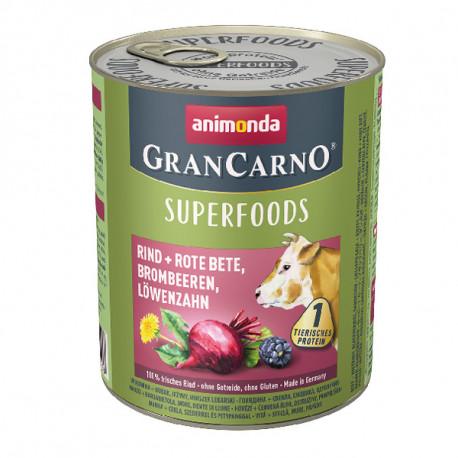 Animonda GranCarno Superfoods Hovädzie + červená repa, černice a púpava 400g Animonda - 2