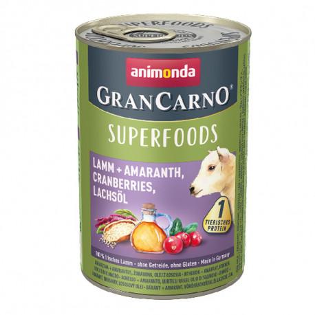 Animonda GranCarno Superfoods Jahňacie + amarant, brusnice a lososový olej 400g Animonda - 1