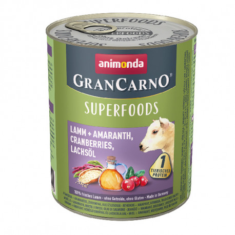 Animonda GranCarno Superfoods Jahňacie + amarant, brusnice a lososový olej 400g Animonda - 2
